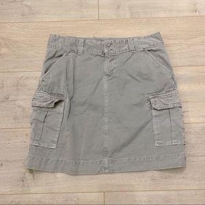 Gray Cargo Skirt